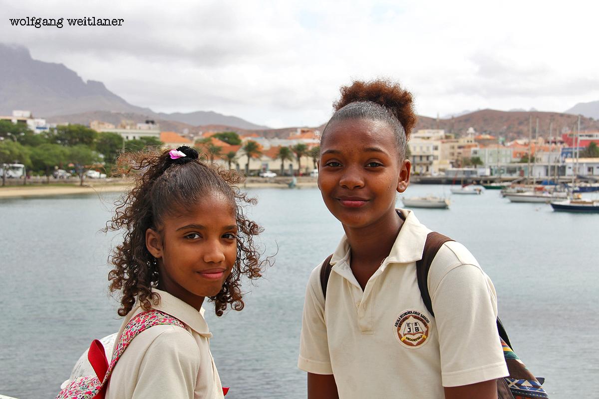 Schülerinnen, Mndelo, Kapverden