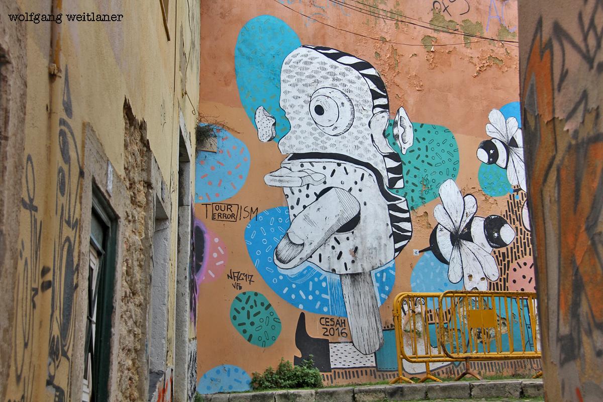 Street-Art, Alfama, Lissabon, Portugal
