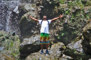Mit Guide Marvin, Middleham Falls, Dominica