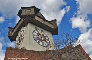 Grazer Schlossberg mit Uhrturm, Graz, Steiermark