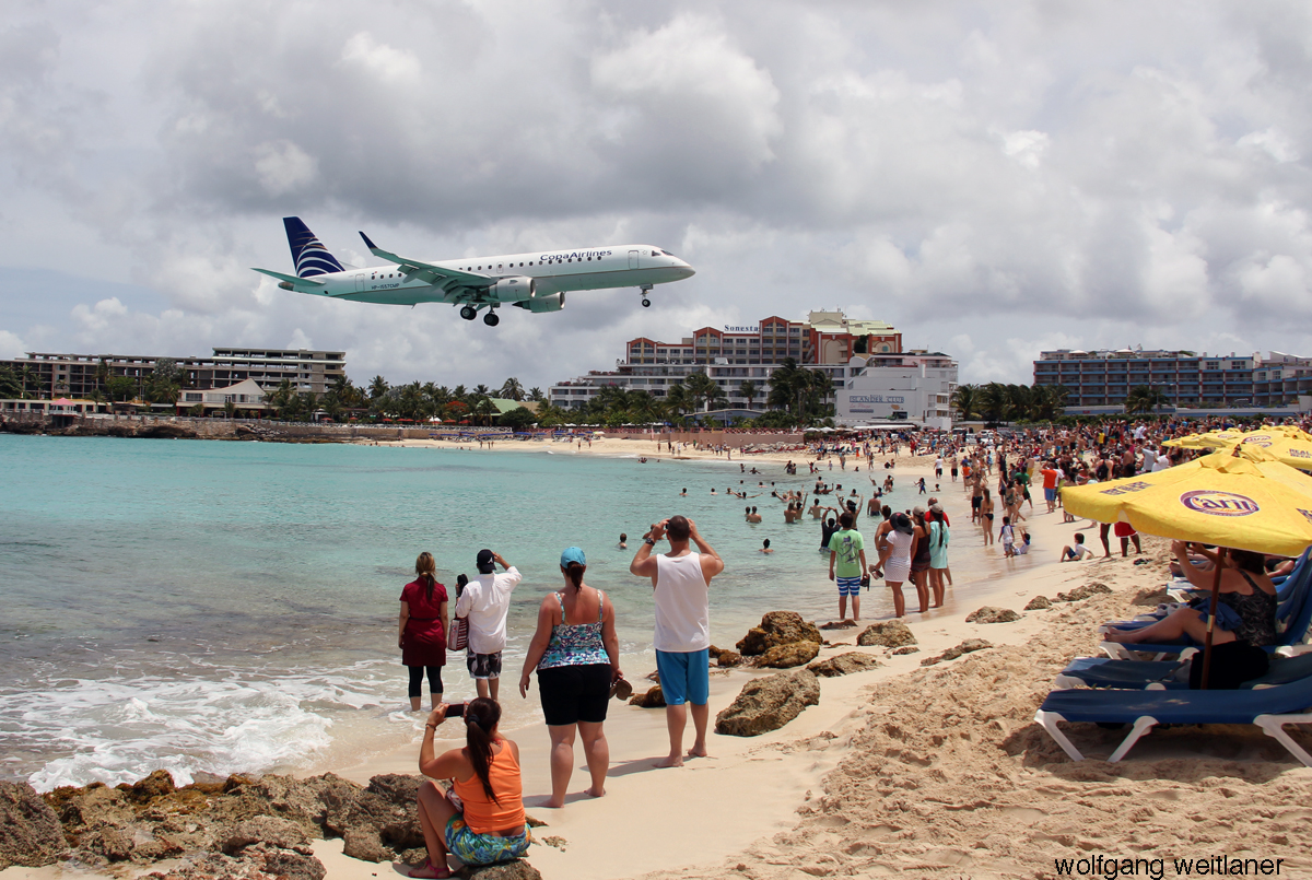 Landeanflug SXM Sint Maarten