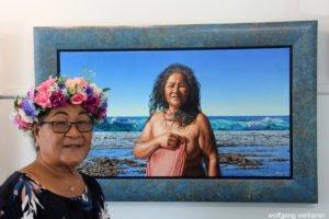 Künstlerin Ahi Cross, Niue, Südsee