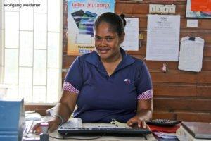 Postbeamtin, Postamt Ba, Viti Levu, Fiji