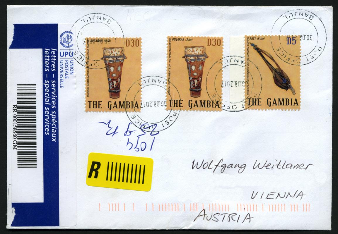 Brief Hauptpost Banjul, Gambia