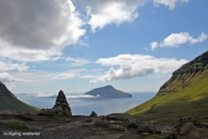 Blick auf Koltur, Streymoy, Färöer Inseln