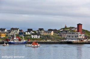 Zentrum von Honningsvåg, Finnmark, Norwegen