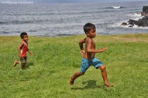 Kinder in Savai'i, Samoa