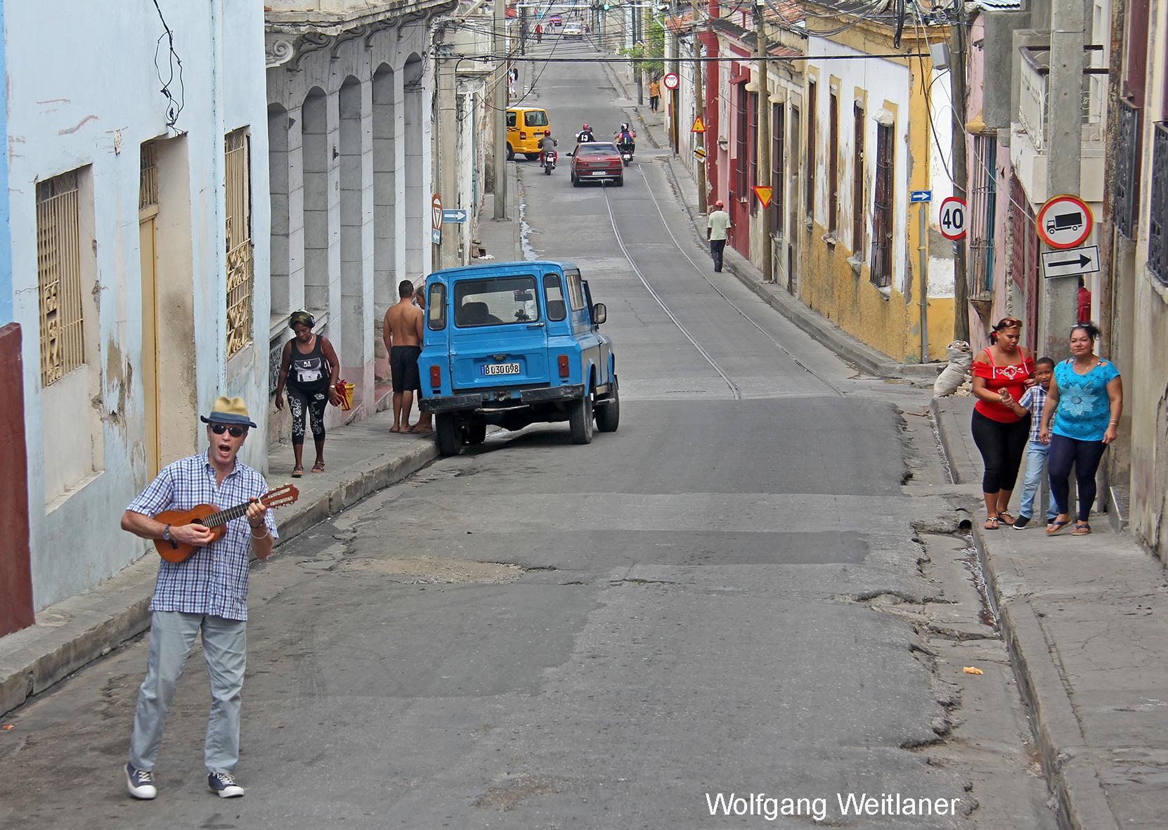 Spontan-Ständchen in Santiago de Cuba, Kuba